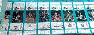 Charlotte Hornets - Season tickets for the Hornets' inaugural season.