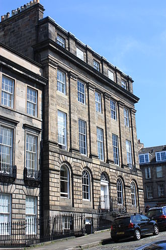 Thomas De Quincey - De Quincey's large house at 1 Forres Street, Edinburgh.