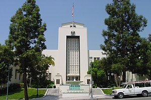 Burbank City Hall, Front, Olive and 3rd street...