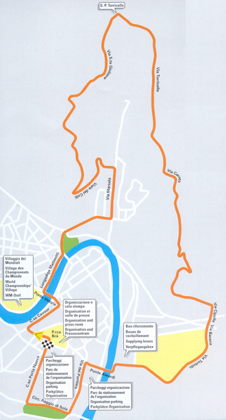 2004 UCI Road World Championships – Women's junior road race - Image: 2004 UCI Road World Championships, course, road race