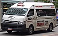2005-2010 Toyota HiAce (TRH223R) Commuter van, Black and White Taxis Maxi Taxi (2017-12-09).jpg