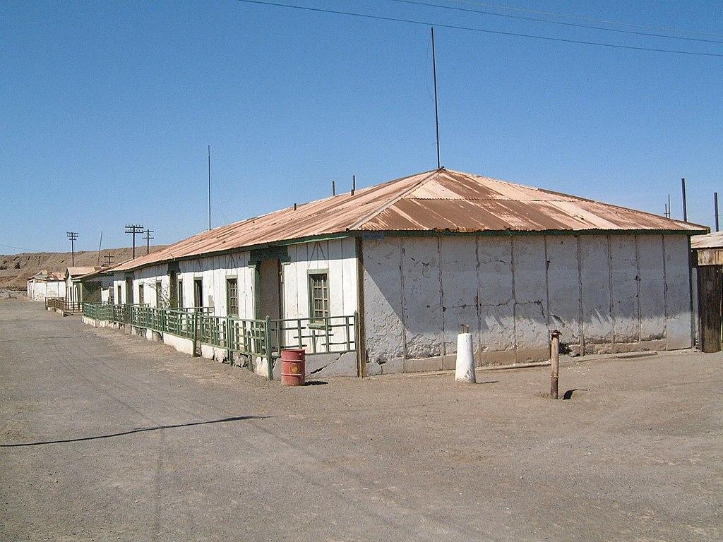 Baracken im Humberstone-Salpeterwerk. 2005.11.14 26 Humberstone Chile