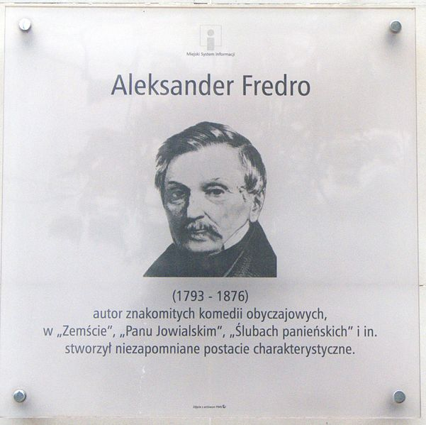 File:2007-08-05 Aleksander Fredro - tablica MSI na budynku przy ul. Aleksandra Fredry w Warszawie.jpg