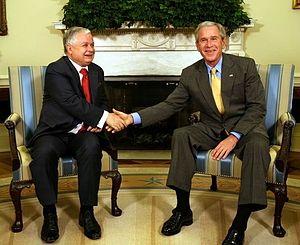 Lech Kaczyński - Lech Kaczyński with U.S. President George W. Bush in 2007