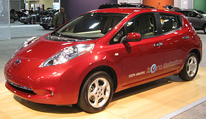 2011 Nissan Leaf photographed at the 2011 Wash...