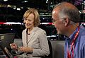 2012 RNC PBS David Brooks and Judy Woodruff (7868050868).jpg