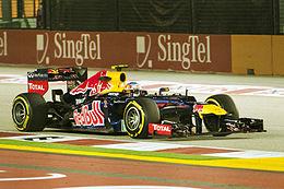 Webber nelle prove libere del Gran Premio di Singapore 2012