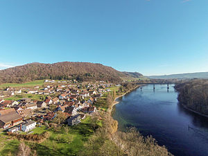 Hemishofen - Image: 2014 12 23 13 34 18 Switzerland Kanton Schaffhausen Hemishofen