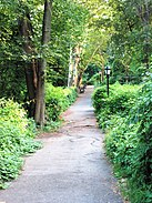 A walkway in Fort Tryon Park