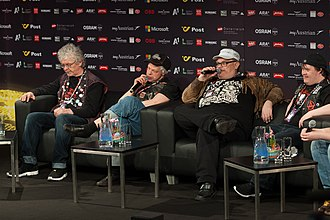 Finland in the Eurovision Song Contest 2015 - Pertti Kurikan Nimipäivät during a press meet and greet