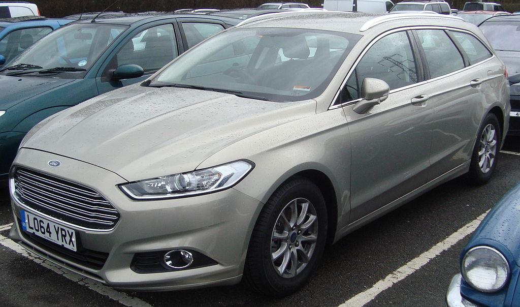 Ford Mondeo 2015 White >> File:2015 Ford Mondeo 1.6 Zetec Econetic TDCi Estate (16922091829).jpg - Wikimedia Commons