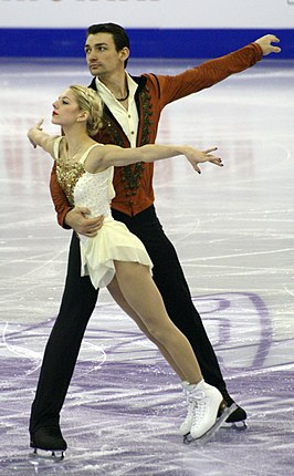 Chris Knierim en Alexa Scimeca in 2015