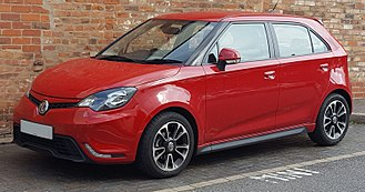 MG 3 - The British MG 3 with a slightly different body kit, alloys and LED daytime running lights.