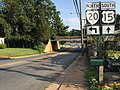 2016-07-21 18 23 31 View south along U.S. Route 15 and north along Virginia State Route 20 (Caroline Street) between Old Main Line and Lindsay Drive in Orange, Orange County, Virginia.jpg