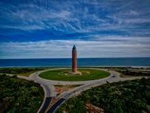 Water Tower And Robert Moses Causeway Roundabout At State Park