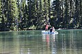 2016. Cindy Froyd, Matt Watkins, and Iain Robertson obtaining a lake sediment core. Mt. Hood National Forest, Oregon. (26364724189).jpg