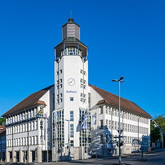 Künzelsau - The new Rathaus of Künzelsau.