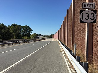 New Jersey Route 133 - View west along Route 133 just west of Route 130