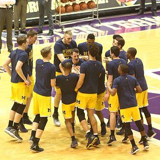 2016–17 Michigan Wolverines men's basketball team - 2016–17 Michigan Wolverines enjoy pregame comradery at Welsh-Ryan Arena