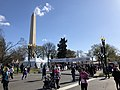 2018-04-08 09 42 47 Finish line of the Credit Union Cherry Blossom 5K Run-Walk on Independence Avenue adjacent to the north shore of the Tidal Basin during the 2018 Cherry Blossom Festival in Washington, D.C..jpg