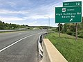 2019-05-17 12 04 15 View west along Interstate 68 and U.S. Route 40 (National Freeway) at Exit 72 (U.S. Route 40 Scenic, High Germany Road, Swain Road) in Bellegrove, Allegany County, Maryland.jpg