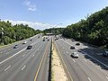 2019-07-12 10 38 02 View north along Interstate 495 (Capital Beltway) from the overpass for Maryland State Route 191 (Bradley Boulevard) on the edge of Bethesda and Potomac in Montgomery County, Maryland.jpg