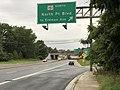 2020-08-03 16 54 59 View west along Maryland State Route 150 (Eastern Avenue-Boulevard) at the exit for Maryland State Route 151 NORTH (North Point Boulevard, TO Erdman Avenue) in Dundalk, Baltimore County, Maryland.jpg