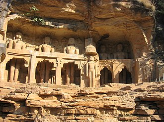 Gwalior Fort - Rock cut images of the Tirthankaras.