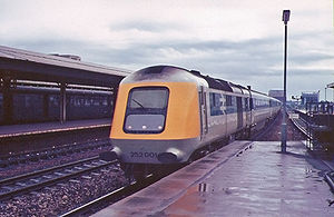 British Rail Class 252 - 252 001 arriving at Reading, 1975.