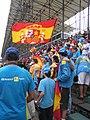 Supporters de Fernando Alonso au Grand Prix du Brésil 2005.