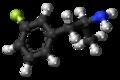 3-Fluoroamphetamine molecule ball.png