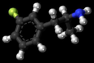 3-Fluoroamphetamine - Image: 3 Fluoroamphetamine molecule ball