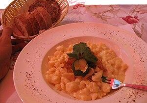 Liechtensteiner cuisine - A dish from the Protector's Garden café in Vaduz, Liechtenstein