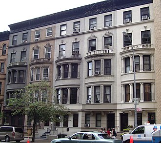 George F. Pelham - 34-42 West 96th Street (1897), five townhouses in Renaissance Revival stye between Central Park West and Columbus Avenue in the Upper West Side neighborhood of Manhattan