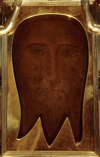 Veil of Veronica - The Holy Face of San Silvestro, now in the Matilda chapel in the Vatican.
