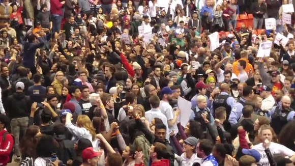 File:3 11 2016 Trump Rally at UIC Pavillion - Right after news of Trump's Postponement.webm