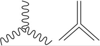 Color charge - Color-line representation of 3-gluon vertex