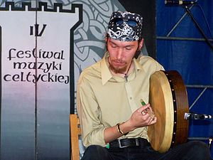 Adam Kryński from Duan celtic music band from Poland.