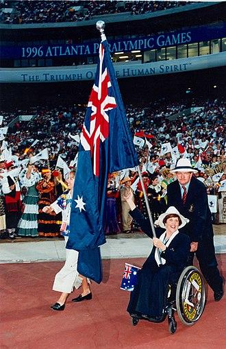 Australia at the 1996 Summer Paralympics -  Atlanta 1996 Opening Ceremony Libby Kosmala (SA)