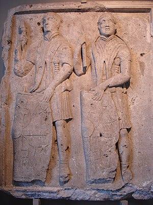 Tabula ansata - Image: 4545 Istanbul Museo archeol. Rilievo traianeo dalla Romania sec. II d.C. Foto G. Dall'Orto 28 5 2006