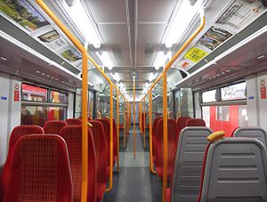 British Rail Class 455 - Interior of a South West Trains Class 455/8