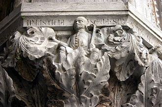Injustice - Injustice, one in a series of allegorical capitals depicting vices and virtues at the Ducal Palace in Venice