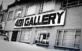 491 Gallery - Frontage of the 491 Gallery.
