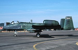 511th Tactical Fighter Squadron - 511th TFS A-10 Thunderbolt II 80-0172 about 1990
