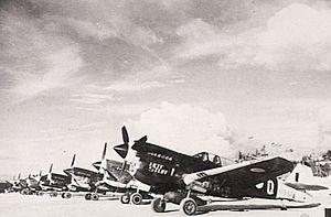 No. 78 Squadron RAAF - No. 78 Squadron Kittyhawks in late 1944