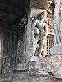 8th century Dwarapala at Virupaksha Shaivism temple, Pattadakal Hindu monuments Karnataka.jpg