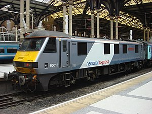 National Express East Anglia - Class 90 at Liverpool Street station in September 2008