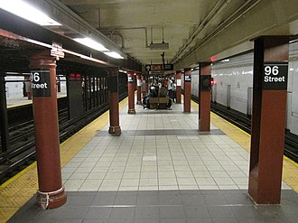 96th Street (IRT Broadway–Seventh Avenue Line) - Uptown island platform