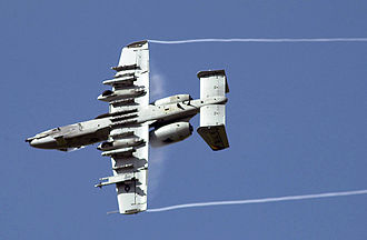 Hardpoint - An A-10 Thunderbolt II showing numerous hardpoint mountings