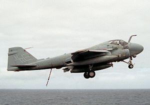 A-6E VA-95 off USS Lincoln (CVN-72) 1990.JPEG